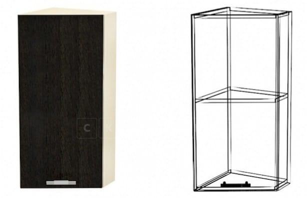 Кухонный навесной шкаф торцевой закрытый Лофт ШВУД30 фото 1 | интернет-магазин Складно