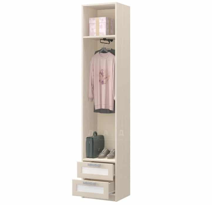 Шкаф пенал ДЮ-07 с 2 ящиками и штангой, рамочный фасад фото 2 | интернет-магазин Складно