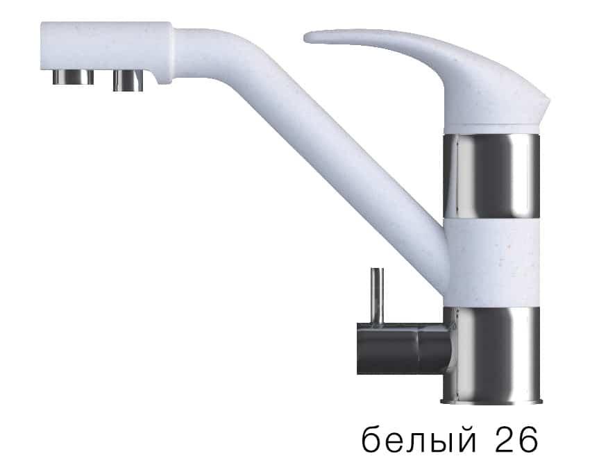 Смеситель кухонный ДУО с возможностью подключения фильтра воды фото 5 | интернет-магазин Складно