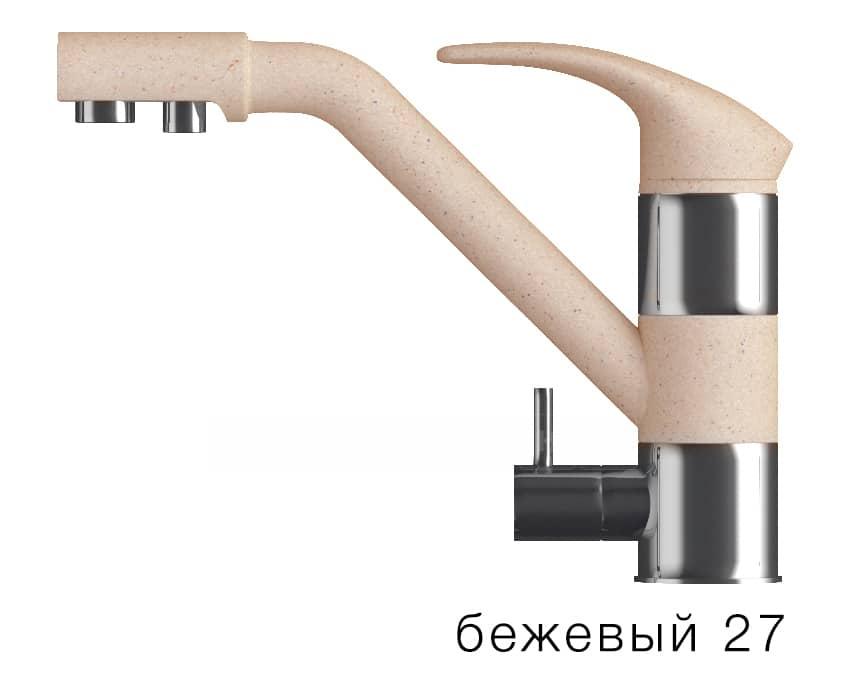 Смеситель кухонный ДУО с возможностью подключения фильтра воды фото 4 | интернет-магазин Складно