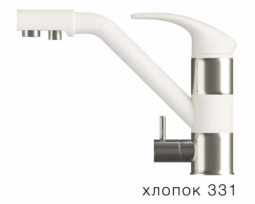 Смеситель кухонный ДУО с возможностью подключения фильтра воды фото 2 | интернет-магазин Складно