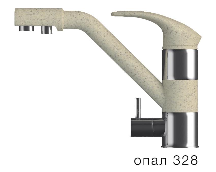 Смеситель кухонный ДУО с возможностью подключения фильтра воды фото 3 | интернет-магазин Складно