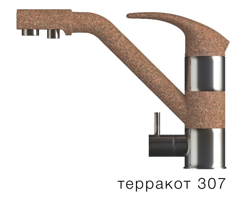 Смеситель кухонный ДУО с возможностью подключения фильтра воды фото 8 | интернет-магазин Складно