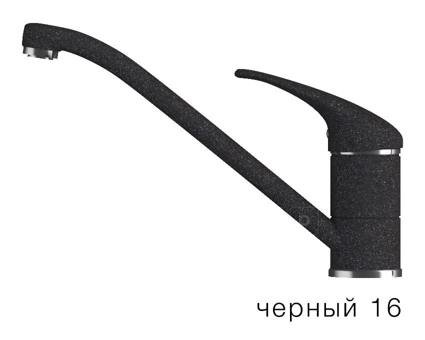 Смеситель кухонный низкий ЭКО в цвет мойки Polygran фото 6 | интернет-магазин Складно