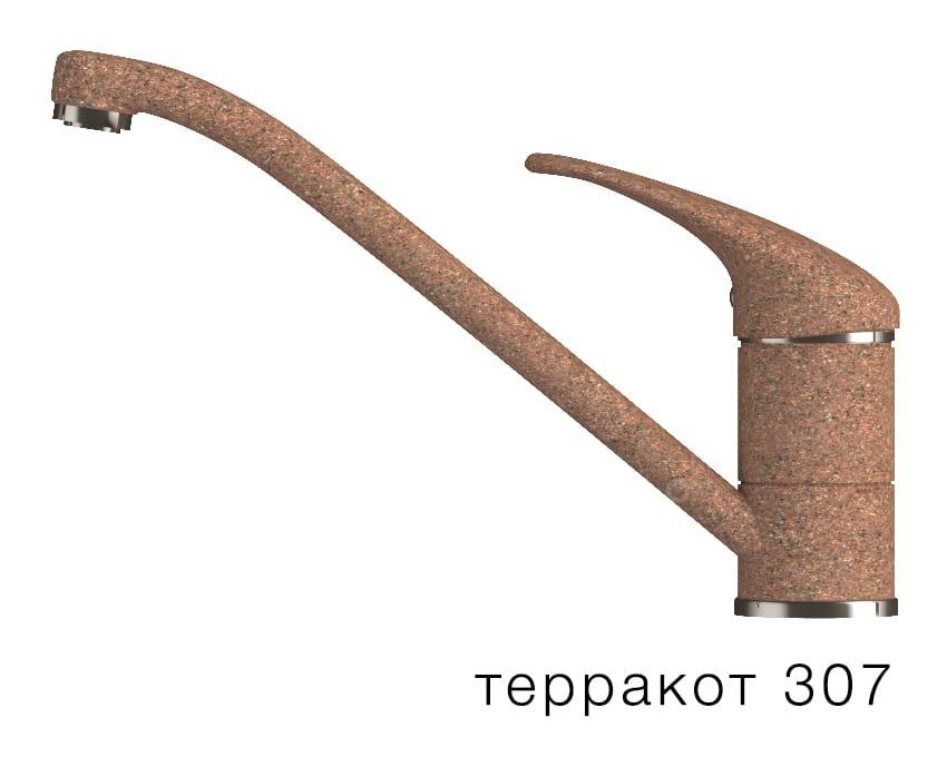 Смеситель кухонный низкий ЭКО в цвет мойки Polygran фото 8 | интернет-магазин Складно
