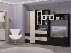 Стенка Нота-11 с малым шкафом 2,8 метра фото | интернет-магазин Складно