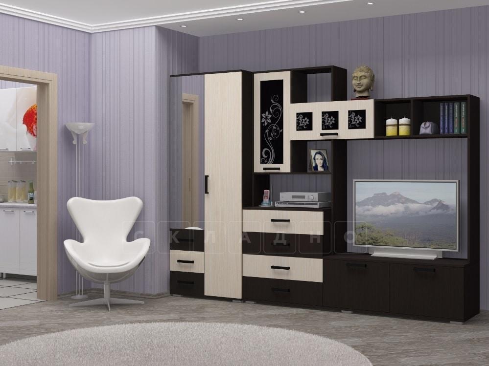 Стенка Нота-11 с малым шкафом 280см фото 1 | интернет-магазин Складно