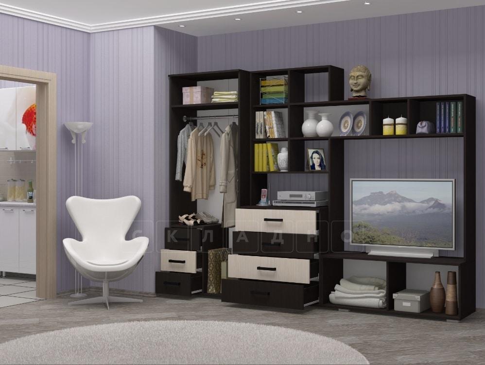 Стенка Нота-11 с малым шкафом 280см фото 2 | интернет-магазин Складно