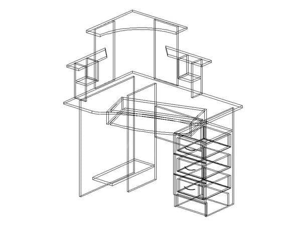 Компьютерный стол СКУ-1 фото 2 | интернет-магазин Складно
