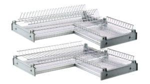 Сушилка для посуды угловая 60х60см хром фото | интернет-магазин Складно