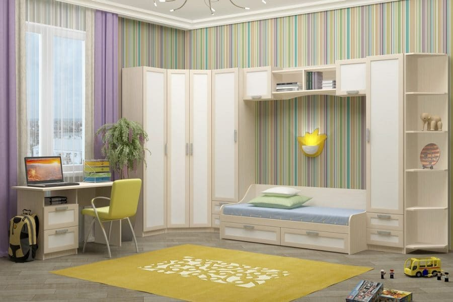 Набор детской мебели Юниор-7 рамочный вариант 1 фото | интернет-магазин Складно