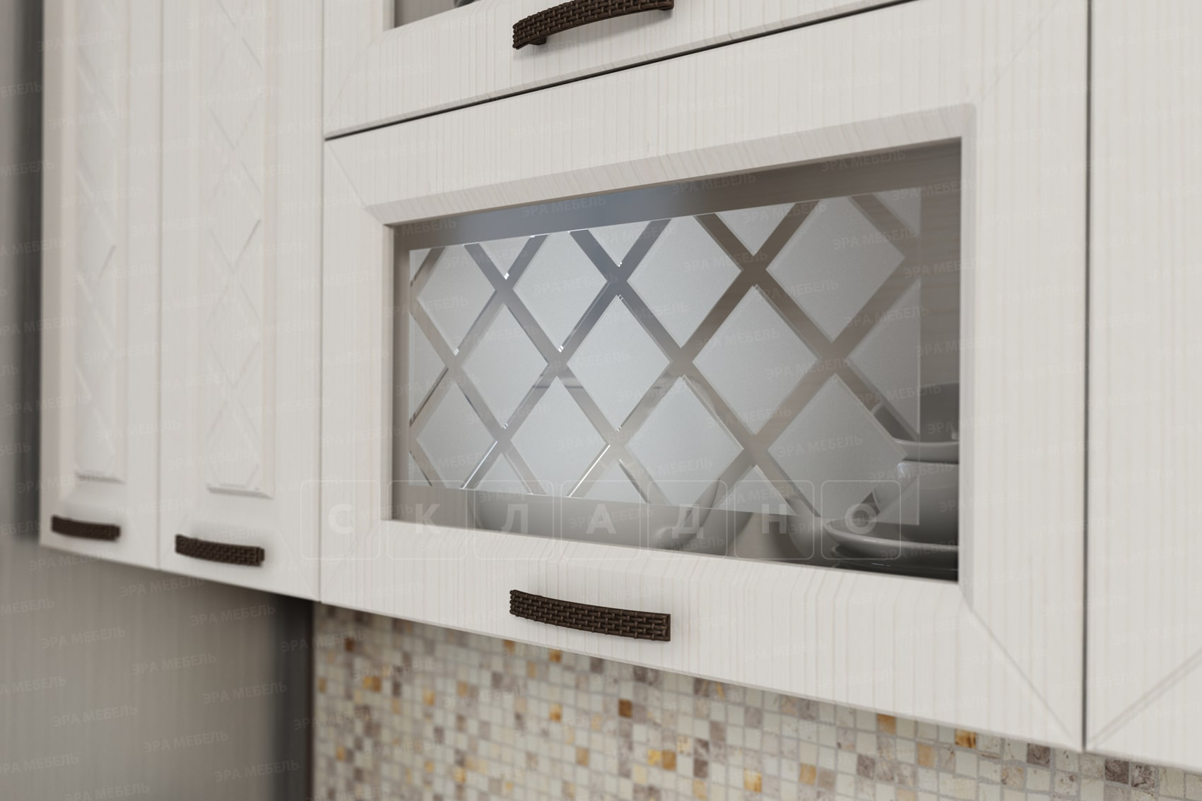Кухонный гарнитур с пеналом Агава 3,0м вариант 2 фото 4 | интернет-магазин Складно