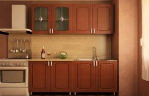 Кухонный гарнитур Кариба 1,6м итальянский орех фото | интернет-магазин Складно