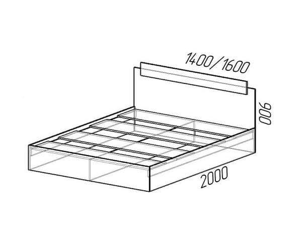 Кровать Эко 160см фото 3 | интернет-магазин Складно