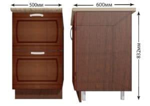 Кухонный шкаф напольный Кариба ШН2Я50 с 2 ящиками фото | интернет-магазин Складно