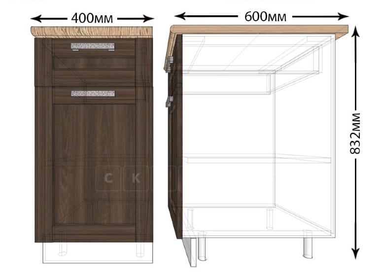 Кухонный шкаф напольный Лофт ШН1Я40 с 1 ящиком фото 1 | интернет-магазин Складно