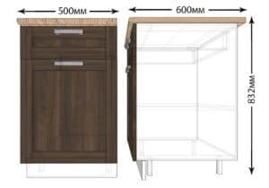 Кухонный шкаф напольный Лофт ШН1Я50 с 1 ящиком фото | интернет-магазин Складно