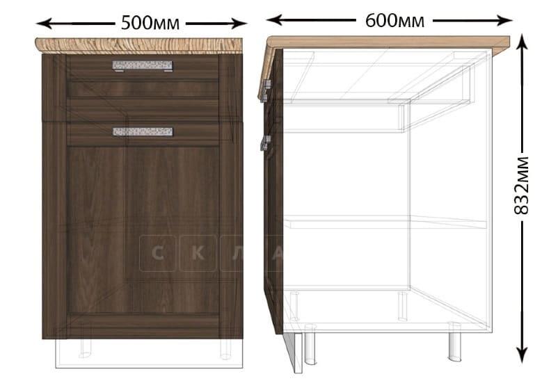 Кухонный шкаф напольный Лофт ШН1Я50 с 1 ящиком фото 1 | интернет-магазин Складно