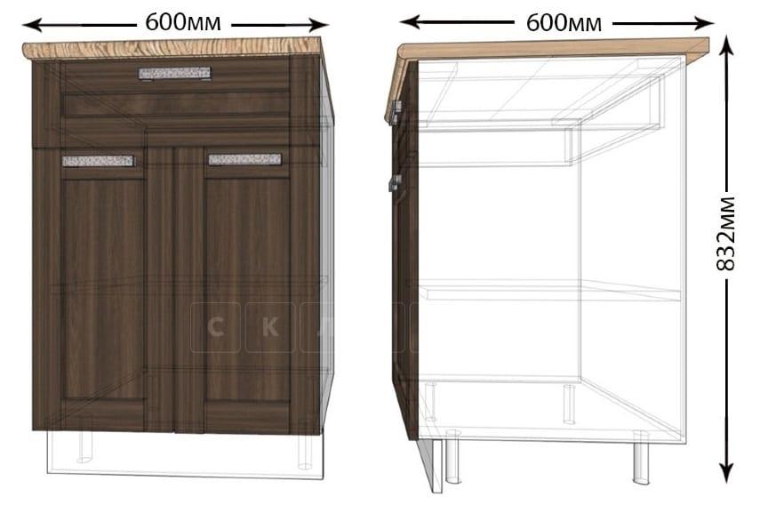 Кухонный шкаф напольный Лофт ШН1Я60 с 1 ящиком фото 1   интернет-магазин Складно