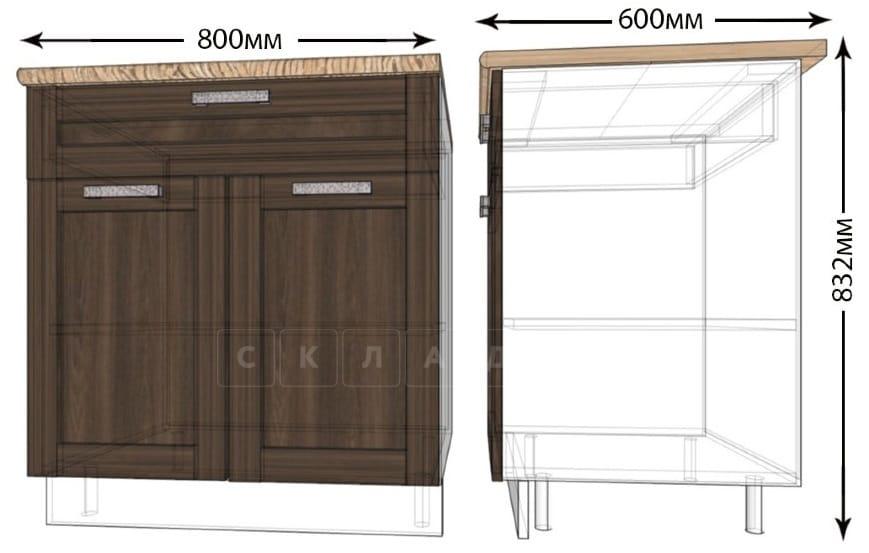 Кухонный шкаф напольный Лофт ШН1Я80 с 1 ящиком фото 1   интернет-магазин Складно