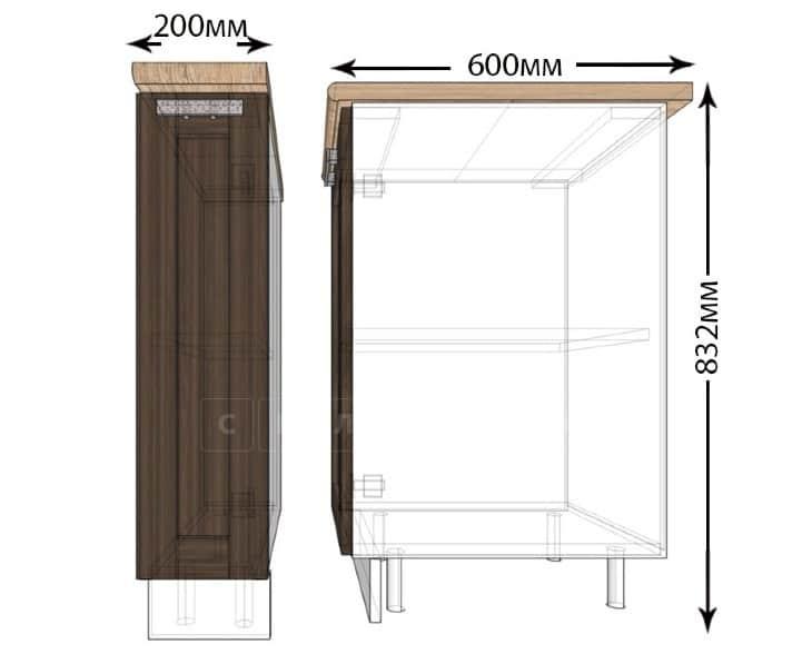 Кухонный шкаф напольный Лофт ШНБ20 бутылочница фото 1 | интернет-магазин Складно