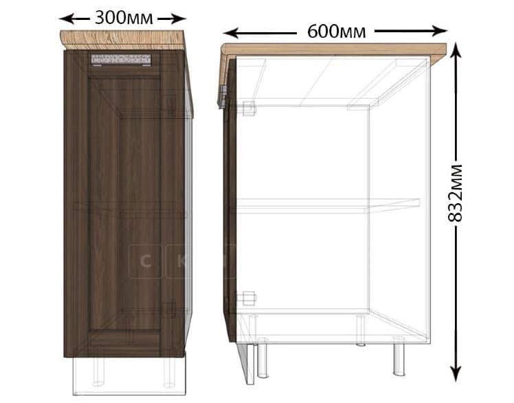 Кухонный шкаф напольный Лофт ШН30 фото 1 | интернет-магазин Складно