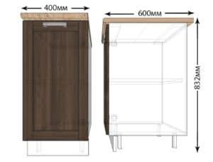 Кухонный шкаф напольный Лофт ШН40 фото | интернет-магазин Складно
