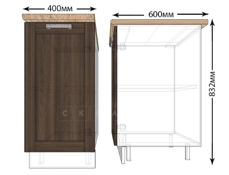 Кухонный шкаф напольный Лофт ШН40 фото 1 | интернет-магазин Складно