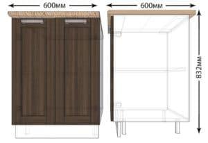 Кухонный шкаф напольный Лофт ШН60 фото   интернет-магазин Складно