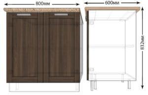Кухонный шкаф напольный Лофт ШН80 фото | интернет-магазин Складно