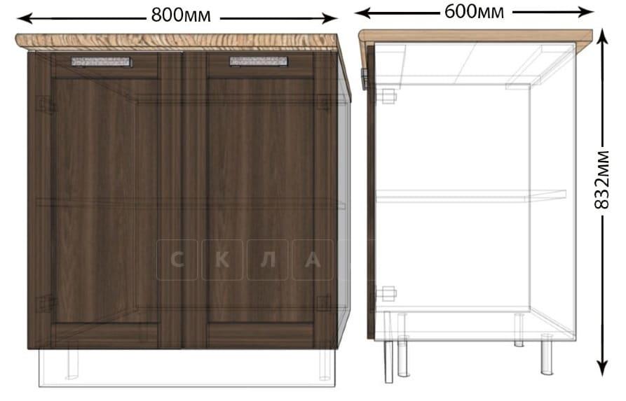 Кухонный шкаф напольный Лофт ШН80 фото 1 | интернет-магазин Складно