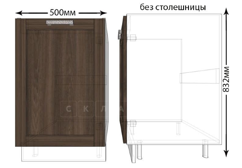 Тумба под мойку для кухни Лофт ШНМ50 фото 1 | интернет-магазин Складно