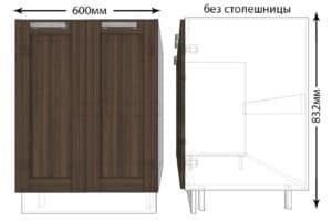 Тумба под мойку для кухни Лофт ШНМ60 фото | интернет-магазин Складно