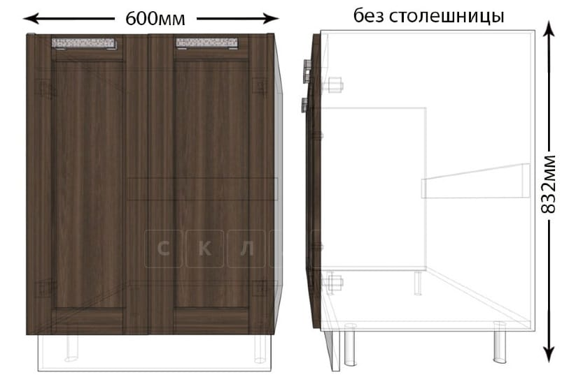Тумба под мойку для кухни Лофт ШНМ60 фото 1   интернет-магазин Складно