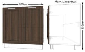 Тумба под мойку для кухни Лофт ШНМ80 фото | интернет-магазин Складно