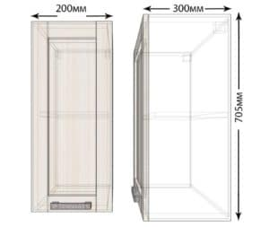 Кухонный навесной шкаф Лофт ШВ20 фото | интернет-магазин Складно