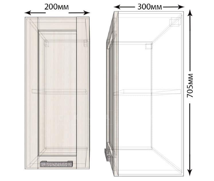 Кухонный навесной шкаф Лофт ШВ20 фото 1 | интернет-магазин Складно