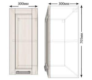 Кухонный навесной шкаф Лофт ШВ30 фото | интернет-магазин Складно