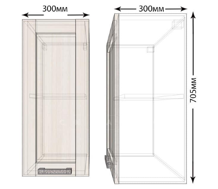 Кухонный навесной шкаф Лофт ШВ30 фото 1 | интернет-магазин Складно