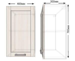 Кухонный навесной шкаф Лофт ШВ40 фото | интернет-магазин Складно