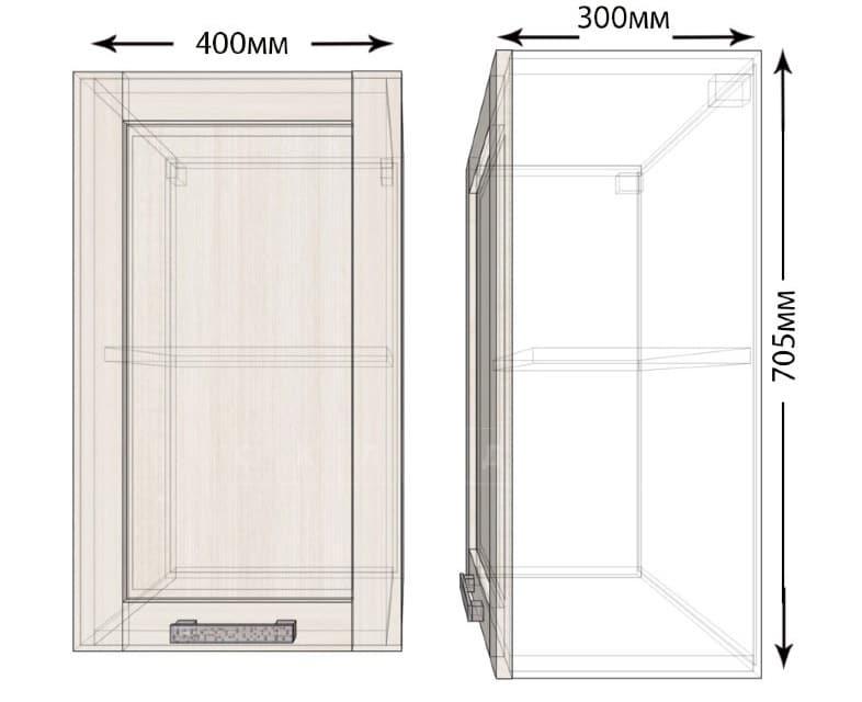 Кухонный навесной шкаф Лофт ШВ40 фото 1 | интернет-магазин Складно