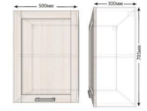 Кухонный навесной шкаф Лофт ШВ50 фото | интернет-магазин Складно