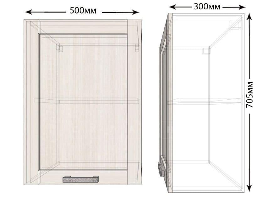 Кухонный навесной шкаф Лофт ШВ50 фото 1 | интернет-магазин Складно