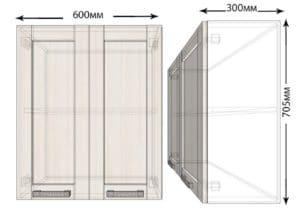 Кухонный навесной шкаф Лофт ШВ60 фото | интернет-магазин Складно