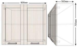 Кухонный навесной шкаф Лофт ШВ80 фото | интернет-магазин Складно