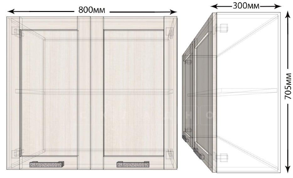 Кухонный навесной шкаф Лофт ШВ80 фото 1 | интернет-магазин Складно