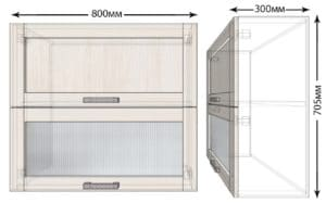 Кухонный навесной шкаф горизонтальный Лофт ШВБ1С80  4070  рублей, фото 1   интернет-магазин Складно