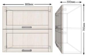 Кухонный навесной шкаф горизонтальный Лофт ШВБ80 фото | интернет-магазин Складно