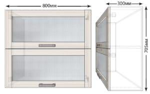 Кухонный навесной шкаф горизонтальный Лофт ШВБС80  4520  рублей, фото 1   интернет-магазин Складно