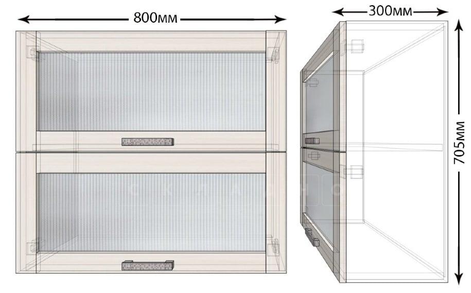 Кухонный навесной шкаф горизонтальный Лофт ШВБС80 фото 1   интернет-магазин Складно